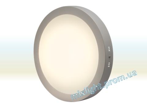 Светодиодный накладной светильник 24W круг 4500K/6400K  Z-light