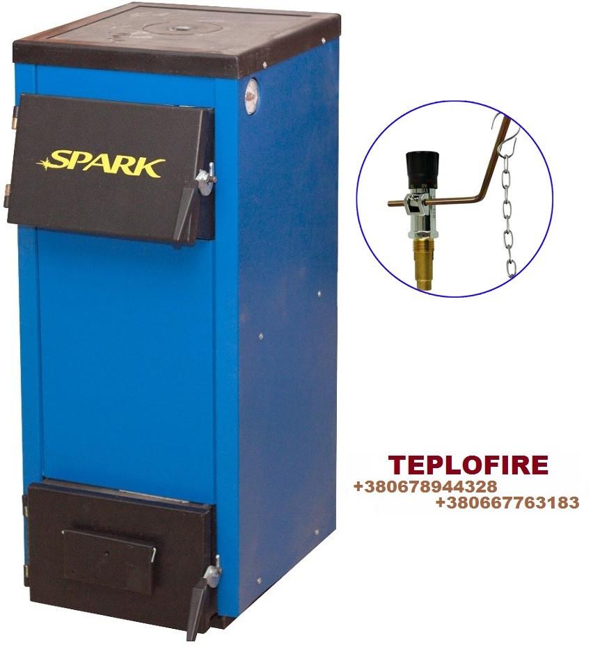 Твердотопливный котел Spark-Heat 18 кВт с плитой и регулятором тяги (Спарк Хит)