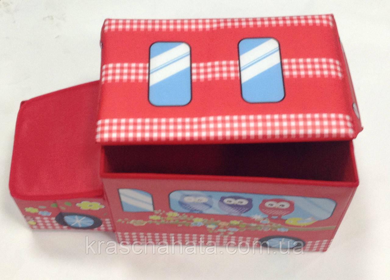 Детская коробка для хранения, пуф, Автобус, 55х30х26 см, Органайзер детский, Днепропетровск
