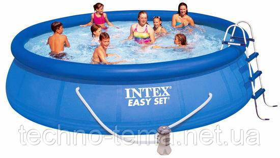 Надувной бассейн Intex  Easy Set Pool, 457х107 см (28166) (54908)