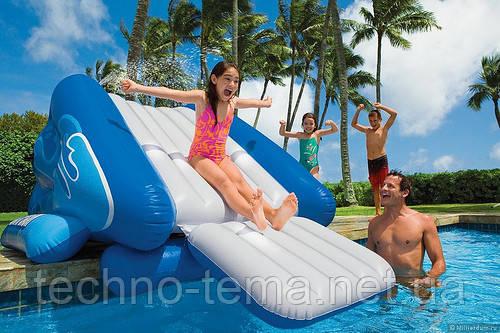 Детская надувная водная горка Intex 58851