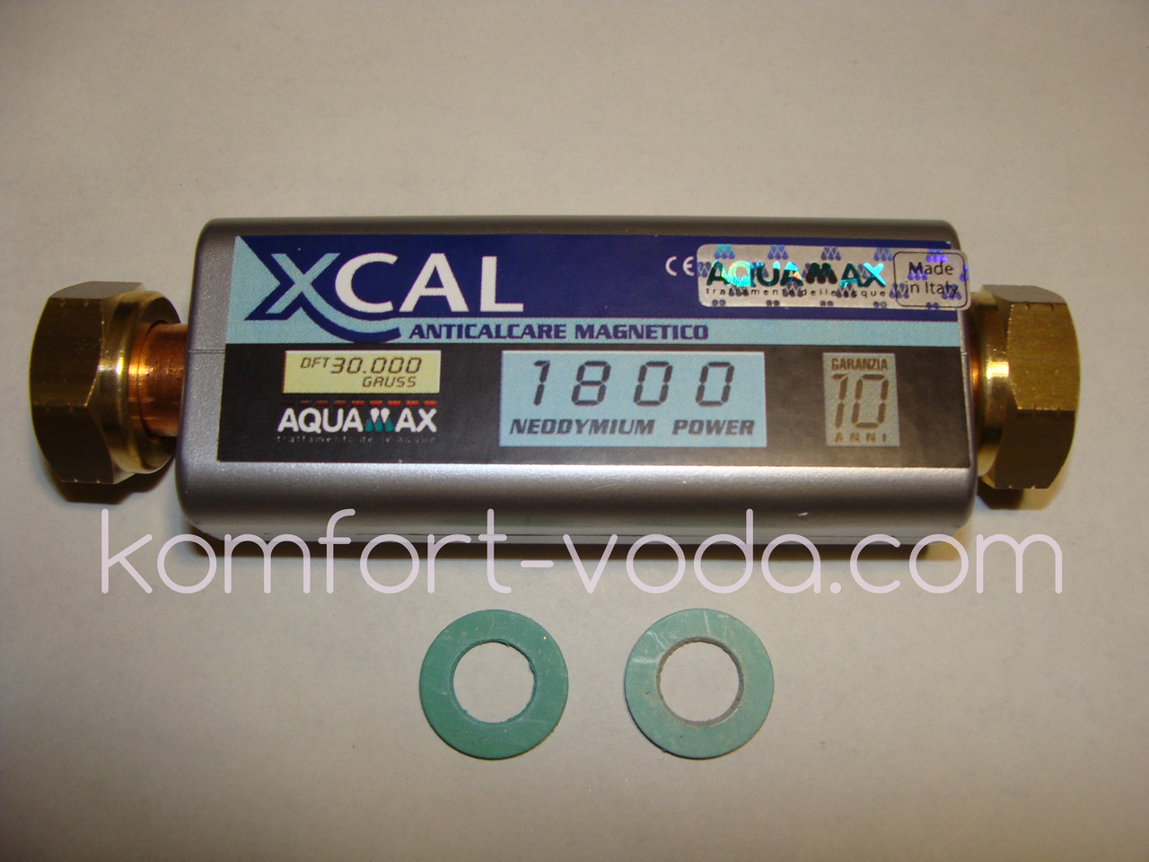 """Магнитный смягчитель воды XCAL 1800 30.000 Gauss, 1800 л/час, 1/2"""""""