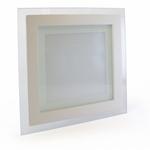 Точечный светодиодный светильник квадрат Glass Rim 12W