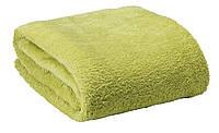 Зеленый плед 140х200  микрофлис