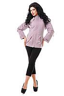 Куртка сиреневая демисезонная В - 809 Тон 490 44,56,58 размеры