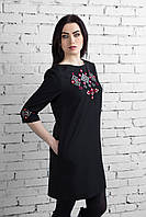 Сукня Леля чорна (бордо)