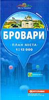 Міста України Бровари План міста 1:12 000