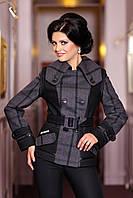 """Куртка женская черно-серая  демисезонная   В - 650 """"Ban 600 Fanci + Gin"""" Тон 19"""