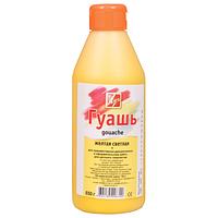 Гуашь художественная Луч желтая светлая 500 мл./0,650 кг/ пластиковая бутылка с дозатором