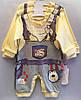 """Детский костюм человечек на мальчика """"Комбенизон"""". 62-74-80 см. Желтый. Оптом."""