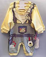 """Детский костюм человечек на мальчика """"Комбенизон"""". 62-74-80 см. Желтый. Оптом., фото 1"""