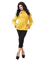 """Куртка желтая женская демисезонная В - 809 """"Кальв"""" Тон 11  42-58 размеры"""