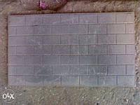 Чугунная плита в керпичек Глухая 400×700мм тол 10 мм