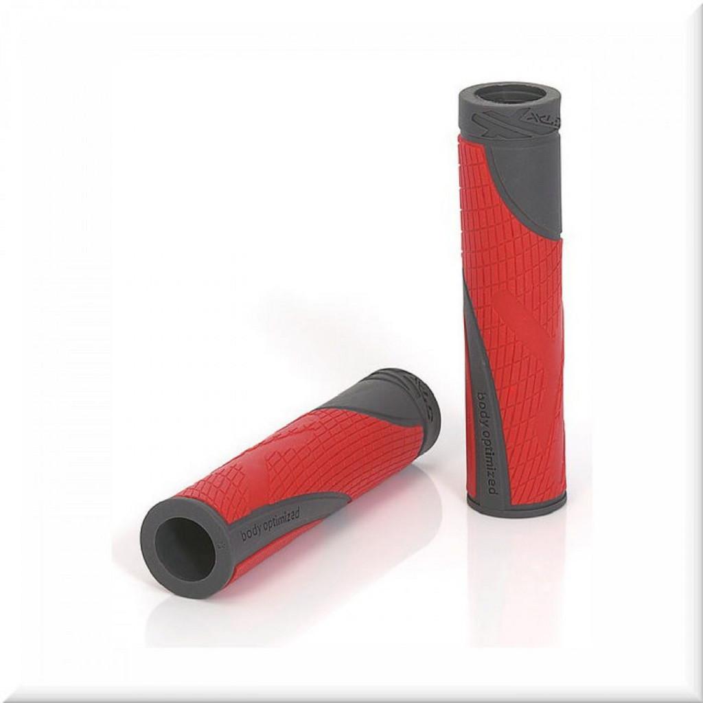 Грипсы XLC GR-S18 Sport bo, красно-серые (ST)