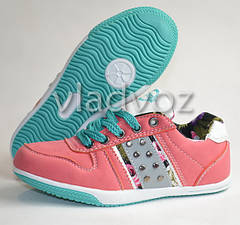 Спортивные туфли кроссовки для девочки 31-36р. розовый Badoxx