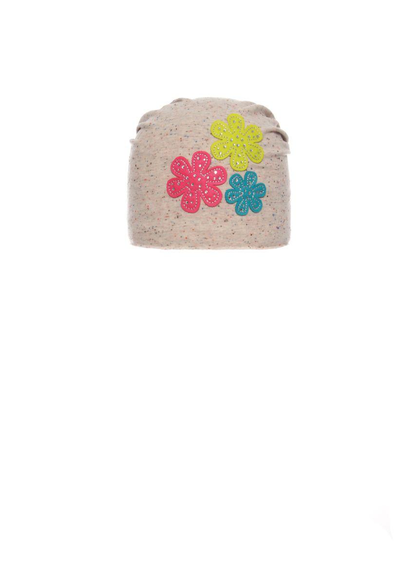 Модная, практичная шапочка для девочки с заворотом