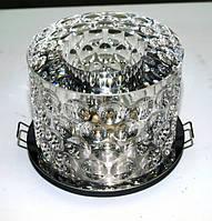 Точечный светильник СТ F 1351 хром прозрачное стекло
