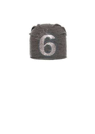 Модная, практичная шапочка для девочки с заворотом, фото 2