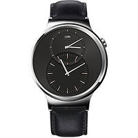 Huawei Watch Black Steel with Black Leather Strap (смарт часы)
