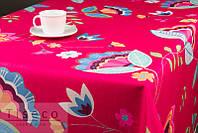 Скатерть     220*155 на обеденный стол с цветочным принтом