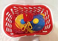 Посуда в корзинке, кастрюля, сковорода,04-435
