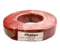 Кабель DIALAN 2х0,75 чёрно-красный
