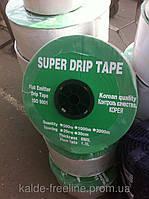 Крапельна стрічка з вбудованими емітерами SUPER DRIP TAPE 8 mill крок 20 бута 500м, фото 1