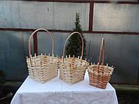 Подарочная плетеная корзинка из лозы