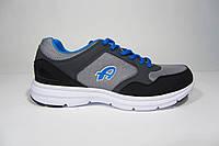 Мужские повседневные кроссовки Athletic, серые с черным, Р. 43