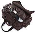 """Кожаная сумка для ноутбука 15,6 """" S.J.D. 7150Q, коричневая, фото 7"""
