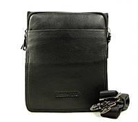 Компактная и практичная повседневная мужская кожаная сумка