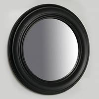 Настенное круглое зеркало, черная оправа, 66 см.