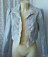 Жакет женский модный хлопок бренд Zara р.48-50 5643, фото 1