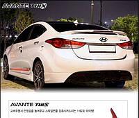Спойлер с диодами на HYUNDAI ELANTRA (2011-2013) корея (в цвет авто)