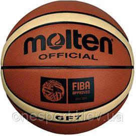BGF7 Баскетбольний мяч, 12 панелей, помаранчевий р.7 + сертификат на 100 грн в подарок (код 112-115275)