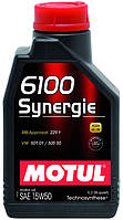 Motul 6100 Synergie 15W-50, 1л.