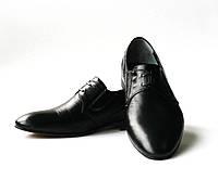 Мужские классические черные кожаные туфли, фото 1