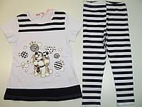 Комплект-двойка для девочки в полоску, размеры 98/104,104/110,110/116,116/122, Emma girl, арт. 7684