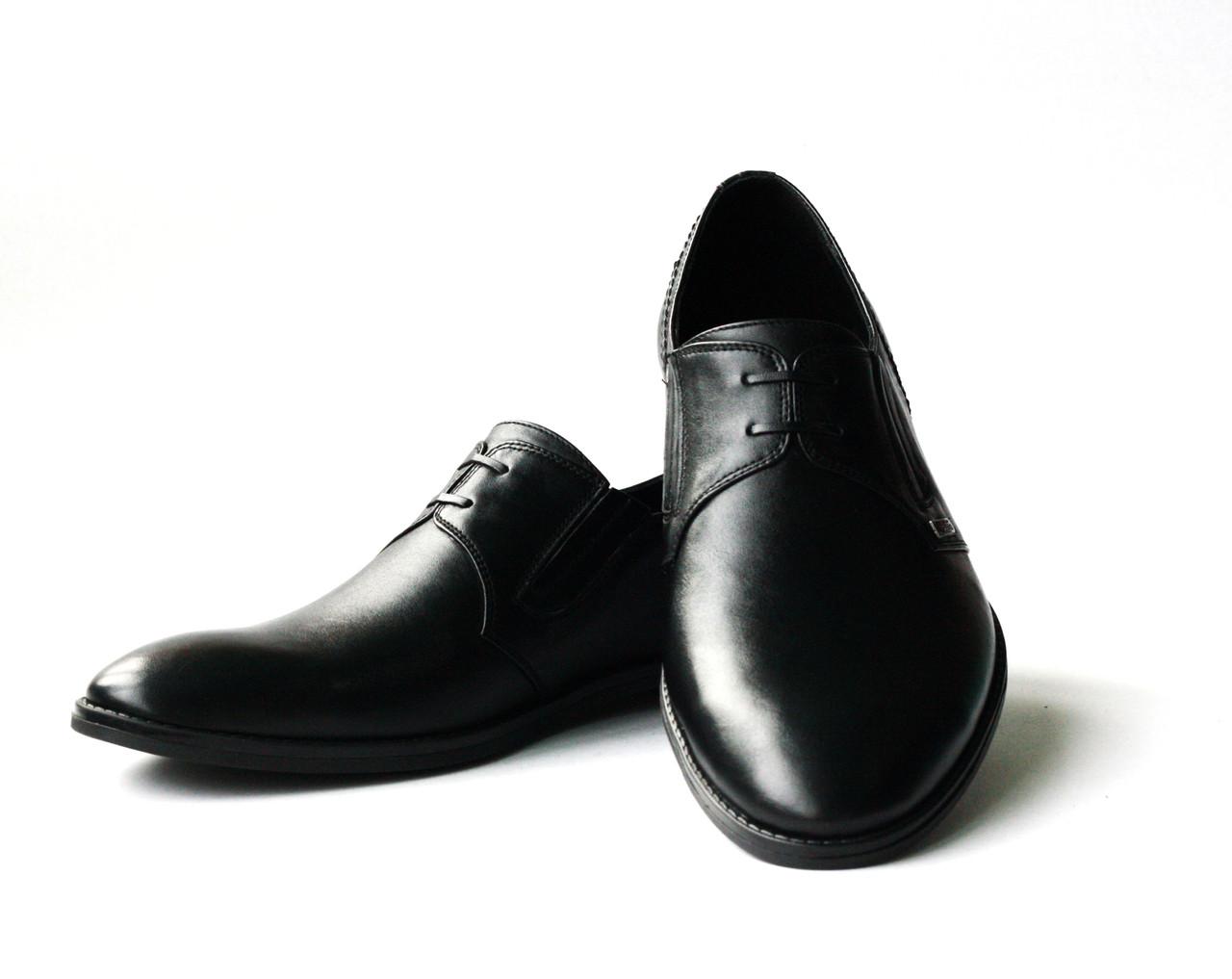 Классические кожаные черные туфли