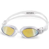 Очки для плавания HEAD Superflex mid прозрачно-дымчатые зеркальное покрытие (код 213-126376)