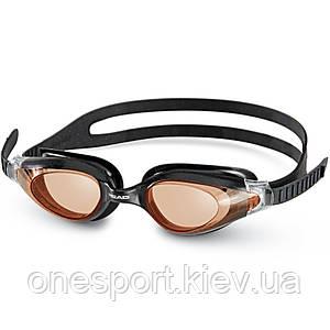 Очки для плавания HEAD Cyclone черно-оранжевые (код 213-126331)