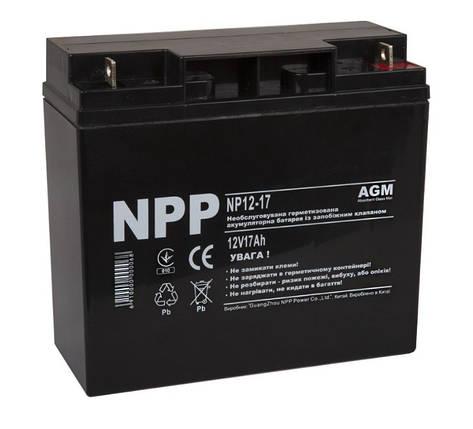 Аккумулятор 12В, 17Ач NPP , фото 2