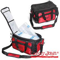 LJ-108 Сумка рыб.с коробкой (4шт.) Lucky John 4-box hang bag 42х25х25 + сертификат на 100 грн в подарок (код 216-138261)