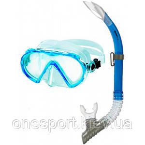 Набор для плавания Mares Alize синий + сертификат на 50 грн в подарок (код 213-154403)