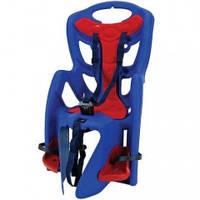 Детское велокресло Bellelli Pape Clamp, цвет синий с красной подкладкой