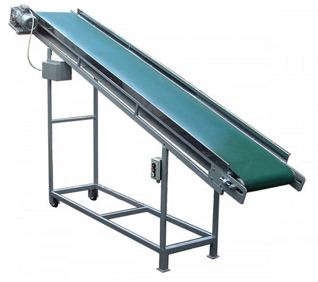Транспортер ленточный реверсивный кормопроизводство сырьевой конвейер