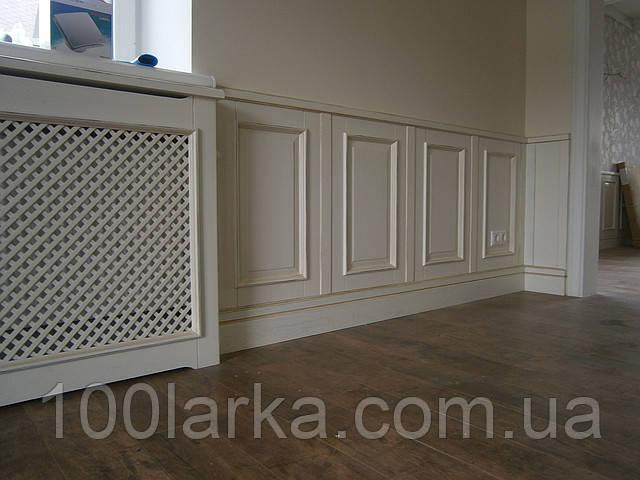 Стеновые панели из дерева, крашеные с потертостью, эффект старения