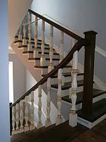 Деревянные лестницы по бетону, фото 1
