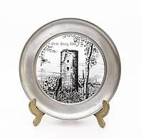 Тарелка коллекционная, настенная, оловянная, Германия