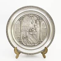 Тарелка коллекционная  настенная, олово, Германия